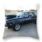 1976 Chevy Malibu Modified Muscle Car Throw Pillow