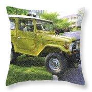 1976 Toyota Landcruiser Throw Pillow