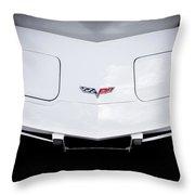1977 White Corvette Throw Pillow