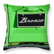 1977 Ford Bronco Taillight Throw Pillow