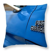 1977 Ford F 150 Custom Name Plate Throw Pillow by Brian Harig