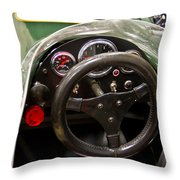 1977 Tiga Interior-class Open Wheel Throw Pillow