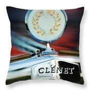 1979 Clenet Hood Ornament -176c Throw Pillow