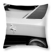1979 Ferrari Taillight Emblem -0378bw Throw Pillow