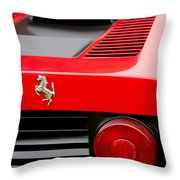 1979 Ferrari Taillight Emblem -0378c Throw Pillow