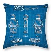 1979 Lego Minifigure Toy Patent Art 1 Throw Pillow