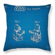1979 Lego Minifigure Toy Patent Art 3 Throw Pillow