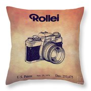 1979 Rollei Camera Patent Art 1 Throw Pillow