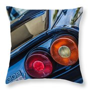 1980 Ferrari 308 Gtsi Taillight Emblem -0036c Throw Pillow