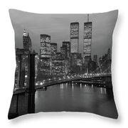 1980s New York City Lower Manhattan Throw Pillow