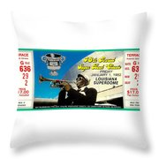 1982 Sugar Bowl Ticket Throw Pillow