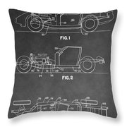 1983 Corvette Patent Throw Pillow