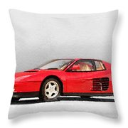 1983 Ferrari 512 Testarossa Throw Pillow