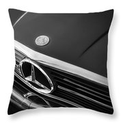 1984 Mercedes 500 Sl Convertible Bw Throw Pillow