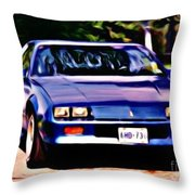 1985 Chev Camero Throw Pillow