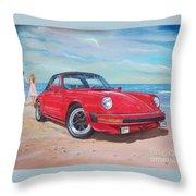 1985 Porsche 911 Targa Throw Pillow