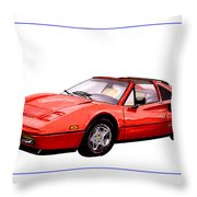 Ferrari 328 G T S 1986 Throw Pillow