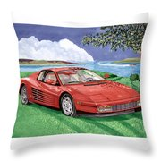 1987 Ferrari Testarosa  Throw Pillow