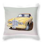 1988 Rolls  Royce's Corniche Convertible  Throw Pillow