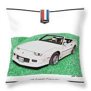 1989 Camaro Convertible Throw Pillow