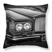 1990 Bentley Turbo R Bw Throw Pillow