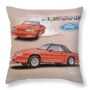 1991 Ford Mustang Throw Pillow