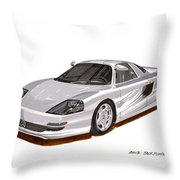 1991 Mercedes Benz C 112 Concept Throw Pillow