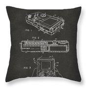 1993 Nintendo Game Boy Patent Artwork - Gray Throw Pillow
