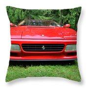 1993 Red Ferrari 512 Tr Throw Pillow