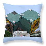 1996 Cube Houses On Eastern Avenue Throw Pillow