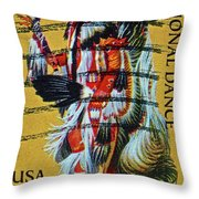 1996 Native American Stamp Throw Pillow