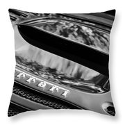 1997 Ferrari F 355 Spider Rear Emblem -117bw Throw Pillow