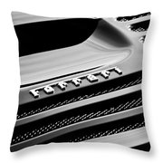 1997 Ferrari F 355 Spider Rear Emblem -153bw Throw Pillow