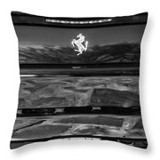 1997 Ferrari F 355 Spider Taillight Emblem -078bw Throw Pillow
