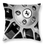 1997 Ferrari F 355 Spider Wheel Emblem -125bw Throw Pillow