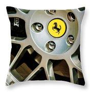 1997 Ferrari F 355 Spider Wheel Emblem -125c Throw Pillow