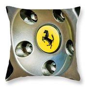 1997 Ferrari F 355 Spider Wheel Emblem -201c Throw Pillow