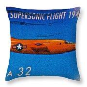 1997 First Supersonic Flight Stamp Throw Pillow