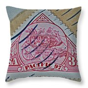 1997 Pacific Stagecoach Stamp Throw Pillow