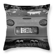 1999 Chevrolet Corvette Bw  Throw Pillow