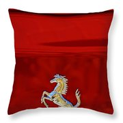 1999 Ferrari 550 Maranello Emblem -651c Throw Pillow