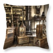 19th Century General Store Throw Pillow