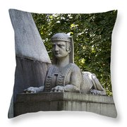 19th Century Granite Stone Sphinx Pyramid Color Poster Look Usa Throw Pillow