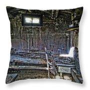19th Century Miner's Cabin - Montana Throw Pillow