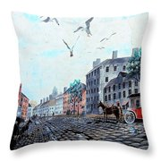19th Century Mural Throw Pillow