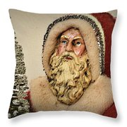 19th Century Santa Claus Throw Pillow