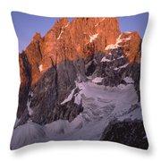 1m9380-sunrise On The North Face Of Grand Teton Throw Pillow
