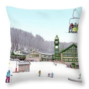1st Snow At Hidden Valley Throw Pillow