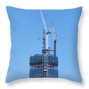1wtc Antenna Erection Throw Pillow