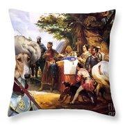 Chart Polski - Polish Greyhound Art Canvas Print Throw Pillow